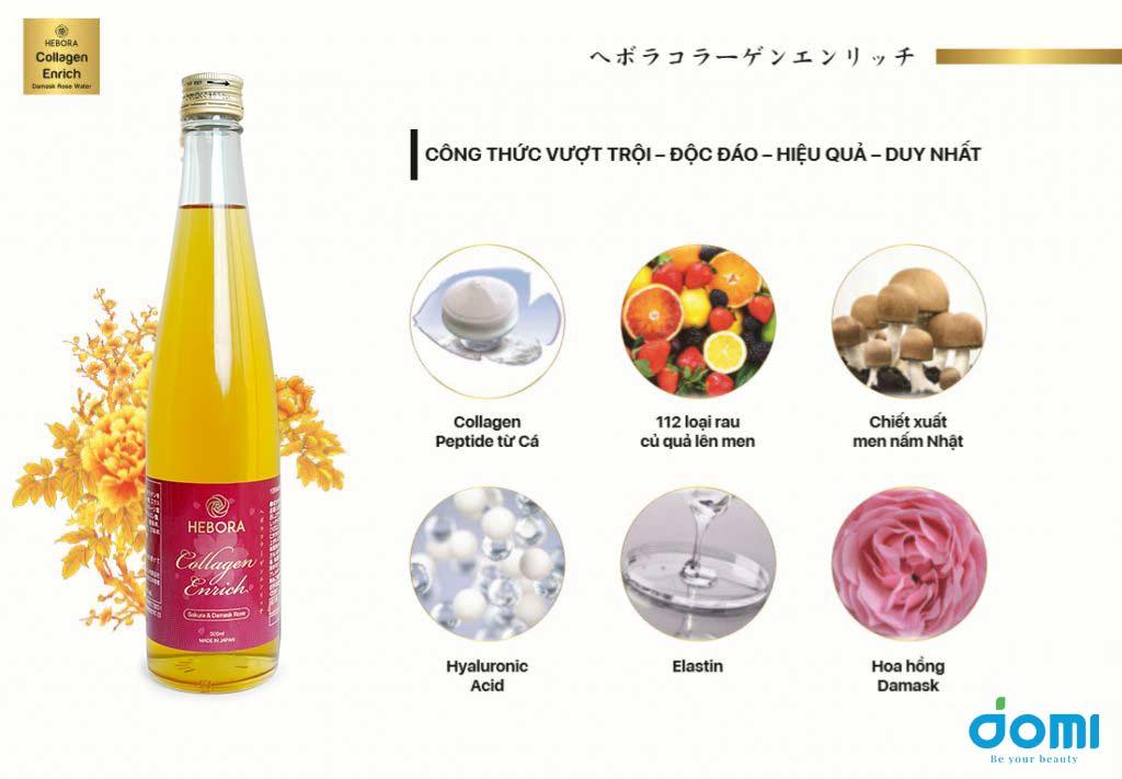 Nước uống Hebora Collagen Enrich phiên bản 2020