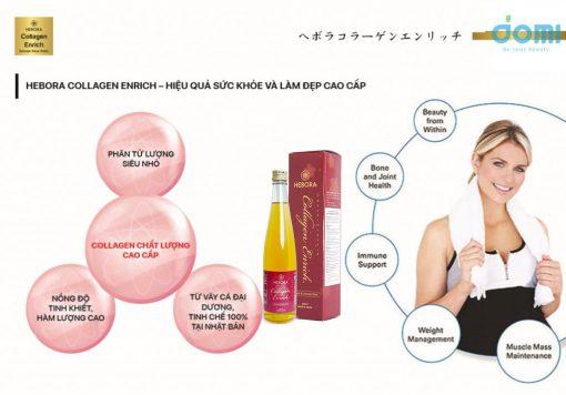 Hebora Collagen Enrich hiệu quả sức khỏe và làm đẹp cao cấp