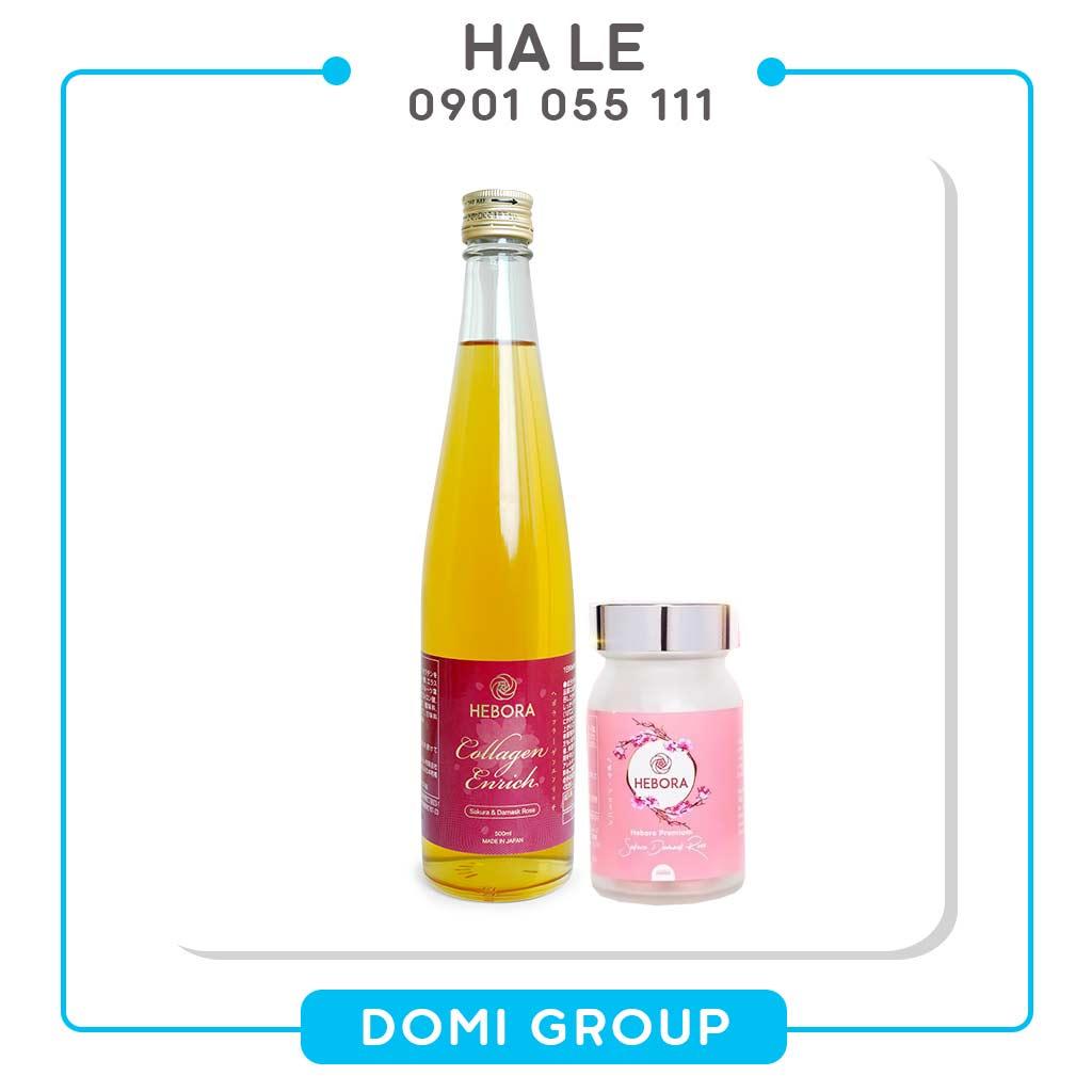 Combo Viên uống Hebora và Hebora Collagen Enrich