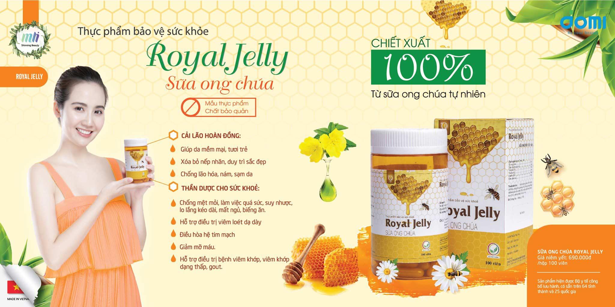Công dụng của Viên uống Sữa Ong Chúa Schon Royal Jelly