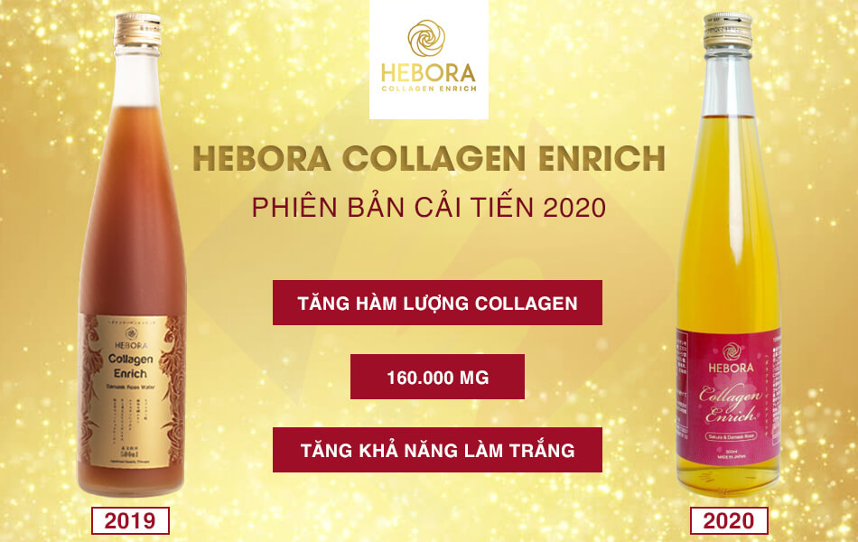 Hebora Collagen Enrich phiên bản 2020 mới và 2019 cũ