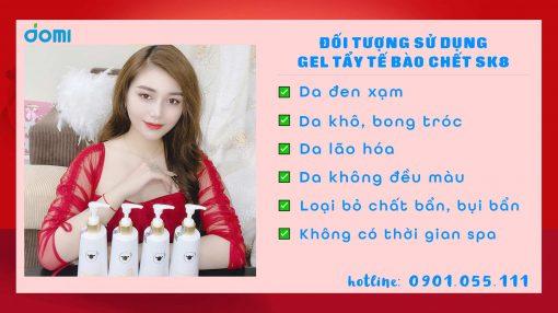 Gel Tẩy Tế Bào Da Chết SK8 Nano Whitening Nourishing Hàn Quốc