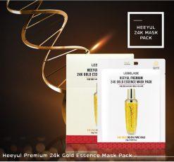 Mặt Nạ Tinh Chất Vàng LEBELAGE Heeyul Premium 24k Gold Essence Mask Pack